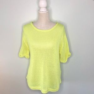 H&M Bright Yellow Light Weight Sweater Sz L